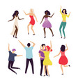 dancers moving in pair couple dancing vector image vector image