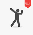 Dancing man icon Flat design gray color symbol vector image