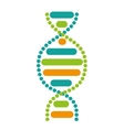 dna particle isolated icon vector image vector image