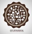 ecological mind design vector image vector image