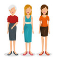 family group characters icon vector image vector image