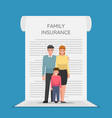 family members are standing on insurance vector image vector image
