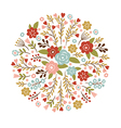 floral for a greeting card or other vector image