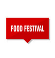 food festival red tag vector image vector image