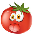Fresh tomato with face vector image