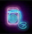 glow dental floss personal hygiene accessories vector image