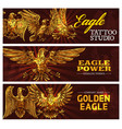 golden heraldic eagles power symbol vector image vector image