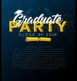 Graduation label template of announcement vector image