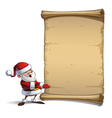 Happy Santa Scroll Presenting to You vector image vector image