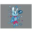 hipster bunny cartoon t shirt design vector image vector image