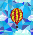 hot air balloon polygon pattern vector image
