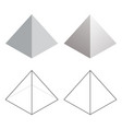 isometric 3d pyramid triangle shapes vector image