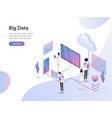 landing page template big data isometric vector image