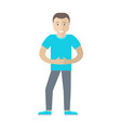 man character in flat style vector image vector image