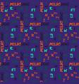 melbourne pattern seamless design vector image