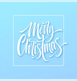 merry christmas hand drawn lettering in square vector image