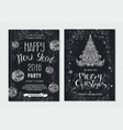 merry christmas party placard poster template vector image