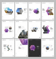minimal brochure templates with hexagons and vector image vector image