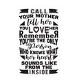 mother quote good for poster call your mother vector image vector image