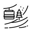 mountain skiing line icon vector image vector image