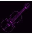 neon violin vector image
