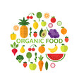 organic food template healthy meal concept vector image vector image
