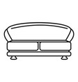 oval sofa icon outline style vector image vector image