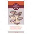 package design for dried sliced oyster mushrooms vector image vector image