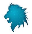 paper lion illustration blue star vector image