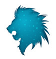 paper lion ullustration blue star vector image