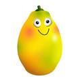 ripe mango fruit cartoon character vector image vector image