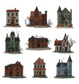 scary houses collection halloween haunted vector image vector image