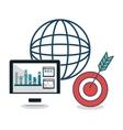 search engine optimization icon vector image