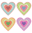 set of cute hearts vector image vector image