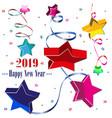 set of new year symbols vector image