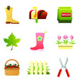 set of nine color icons - rubber boot vector image vector image