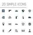set of simple safety icons vector image vector image