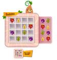 sudoku game fruits fun vector image vector image