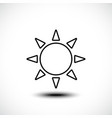 sun line icon sunny weather concept vector image