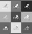 swimming water sport sign grayscale vector image vector image