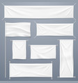 textile banners white blank cloth horizontal vector image vector image