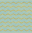 tile pattern with pastel mint green and gold strip vector image