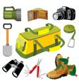 travel objects vector image vector image