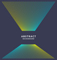 trendy abstract art geometric background with flat vector image vector image