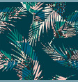 Trendy seamless exotic pattern with palm and