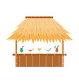 tropical tiki bar hut with cocktail drinks on vector image vector image