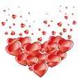Valentines Day background falling hearts vector image