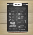 Vintage chalk drawing fast food menu design vector image vector image