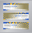 web header design blue yellow banner template vector image vector image
