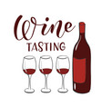wine tasting banner design template vector image
